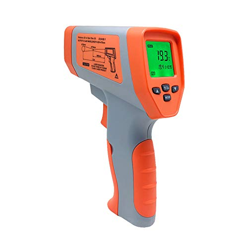LJJY Los termómetros de Infrarrojos, de Mano de Alta precisión de Alta Temperatura Industrial termómetro...