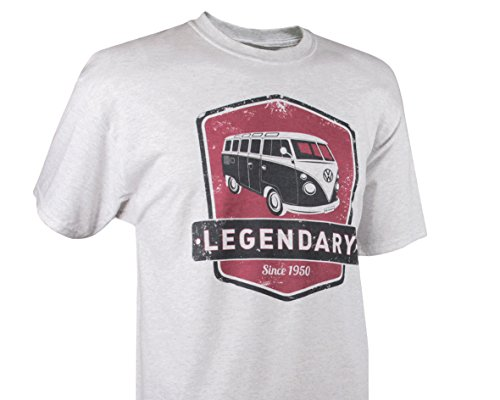 VW Collection by BRISA T-Shirt Volkswagen Bus T1 Unisex Rot/Weiß