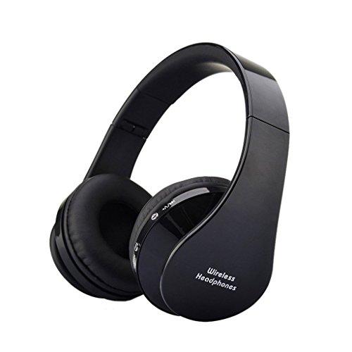 Wireless Bluetooth Kopfhoerer - SODIAL(R)Wireless Bluetooth Stereo Kopfhoerer Faltbarer Sport Kopfhoerer mit einstellbarem Mikrofon fuer iPhone 6 5S iPad Samsung Galaxy S5 Laptop (NX-8252 Schwarz) (I Wireless Für Phone 5s Mikrofon)