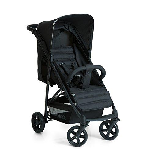 Hauck Buggy Rapid 4 mit Liegefunktion, klein zusammenklappbar / für Kinder ab Geburt bis 25 kg, Caviar Black (Schwarz)