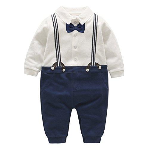 Vlinder Bebone Baby Junge Smoking Neugeborenen Strampler (0-3 Monate, Blau) (Niedliche Kostüm Baby Jungen)