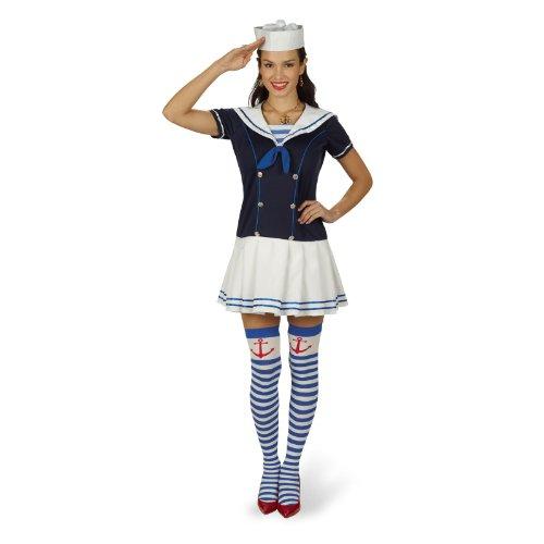 Frauen Kapitän Kostüm Seemann - Freches Matrosengirl Kleid Lola Gr. 36 38
