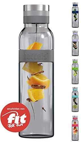 boddels Glaskaraffe SUND 1.100 ml (Hellgrau) - Deine Wasserkaraffe für Zuhause