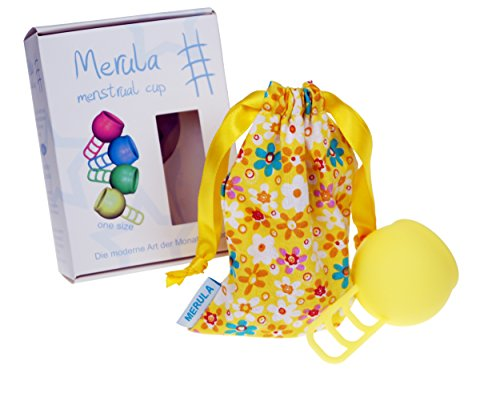 Merula Cup sun (gelb) - Menstruationstasse aus medizinischem Silikon