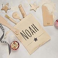 Personalised Kids Star Baker Set - Personalised Baking Set - Kids Baking Set - Kids Gift - Baking Gifts - Engraved Utensils - Baking Kit