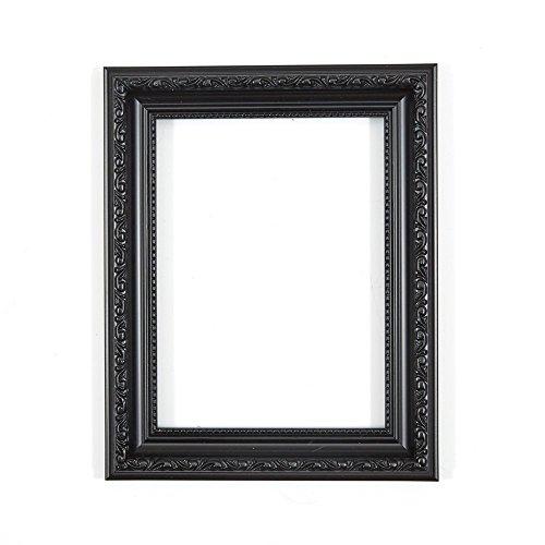 Bilderrahmen in Schwarz A4 - Bereit zum Aufhängen oder Stellen mit Verzierungen im Shabby Chic Bilder-/Foto-/Posterrahmen mit Rückwand aus MDF und bruchsicherem Plexiglas aus Styrol für hohe Klarheit (Blk Blossom)