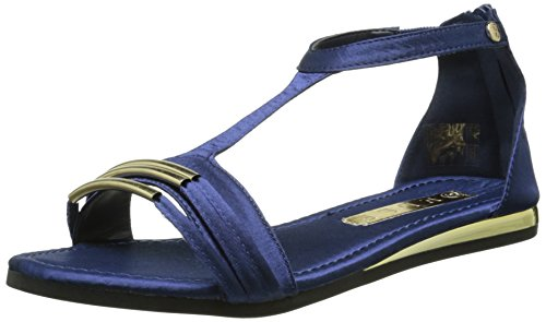 Elle Vigny Damen Sandalen Blau - Blau (Marineblau)