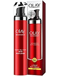 Olay Regenerist 3 Point Firming Anti-Ageing Day SPF30 Lightweight Moisturiser 50 ml, Firms Skin Reduces The Look of Wrinkles