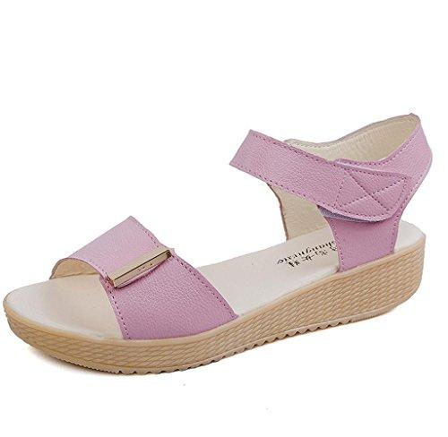 Covermason Sommer Damen Perlen Sandalen Strandschuhe Schuhe Rosa