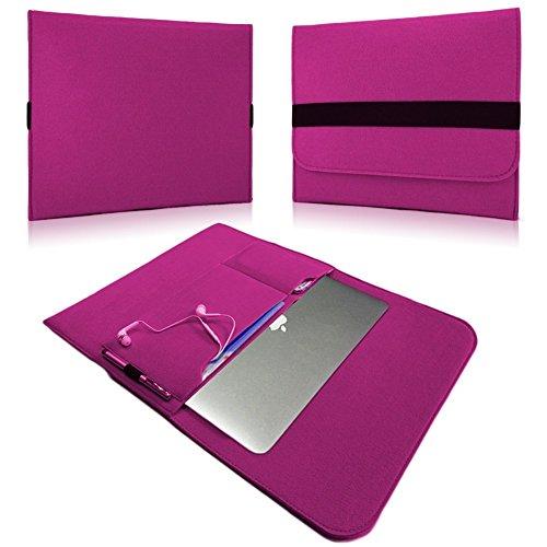 NAUC Laptoptasche Sleeve Schutztasche Hülle für Tablets Macbook Netbook Ultrabook Laptop Case in verschiedenen Farben kompatibel mit z.B. Samsung Apple Asus Medion Lenovo uvm., Farben:Pink, Für Notebook:Sony VAIO VPC-Z21C5E