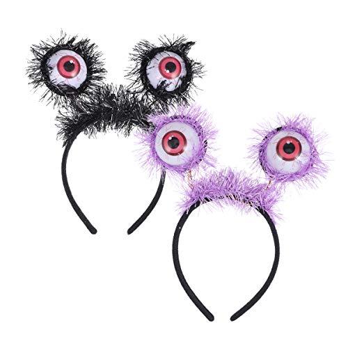 lloween Haarband Augäpfel Leuchten Stirnbänder Cosplay Kostüm Stirnband Plüsch Haarteil für Halloween Party Favors Fotografie Requisiten ()