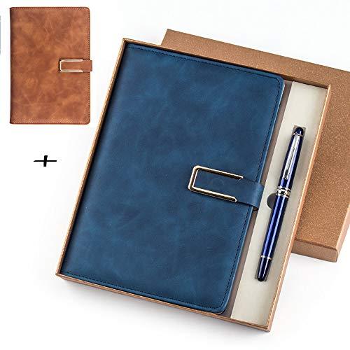 ZUEN 2er Pack Notizbücher und Tagebücher, A5 Liniertes Notizbuch mit Stiftschlaufe, Seitenteiler-Geschenke, Gebundene Ausgabe, Premium Dickes Papier Bullet Journal -