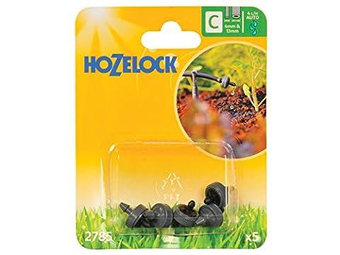 Hozelock End Line Pressure Dripper, 4/13 mm - Pack of 5