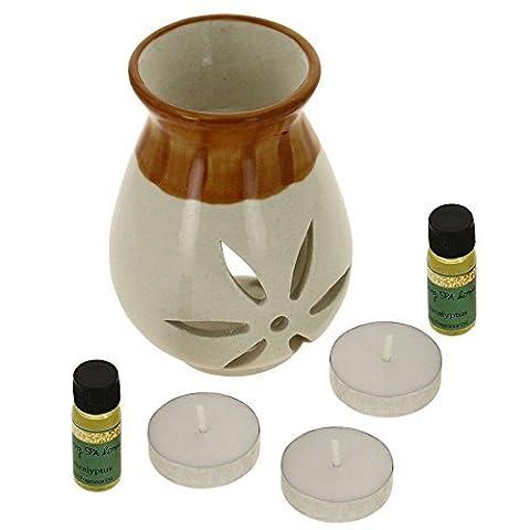 Eukalyptus-Duft Öl, 2 × 10 ml und 3 T-Kerzen Für Weihnachts geschenke