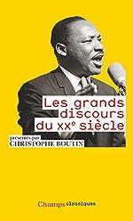 Les grands discours du XXe siècle de Christophe Boutin