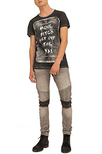 trueprodigy Casual Herren Marken T-Shirt mit Aufdruck, Oberteil cool und stylisch mit Rundhals (kurzarm & Slim Fit), Shirt für Männer bedruckt Farbe: Schwarz 1073122-2999 Black
