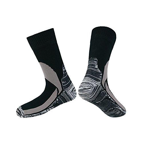 e atmungsaktive Socken für Männer und Frauen, Jagen/Angeln/Wandern/Skifahren/Arbeiten, warme Stiefelsocken, Unisex, schwarz, Large ()