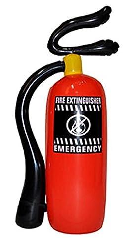 Confettery - Feuerlöscher - Kostümzubehör Feuerwehrmann Kinder Erwachsene, Rot