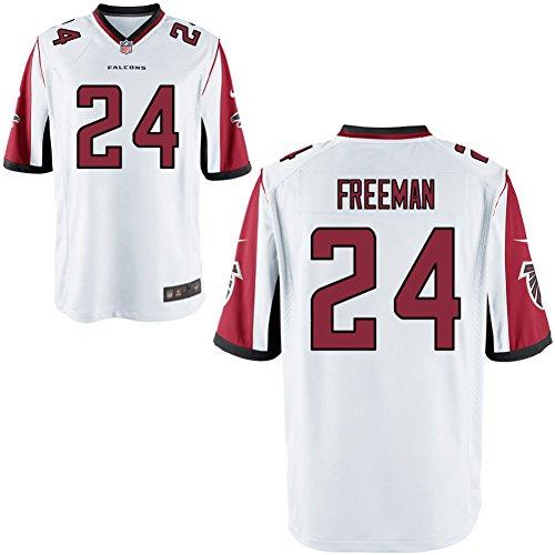 24 Devonta Freeman Trikot Atlanta Falcons Jersey American Football Shirt Mens White Size L(44)