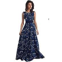 Tongshi Vestido de bola formal del partido del vestido floral de las mujeres el vestido largo de noche de la boda