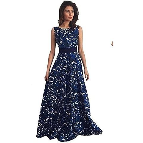 Tongshi Vestido de bola formal del partido del vestido floral de las mujeres el vestido largo de noche de la
