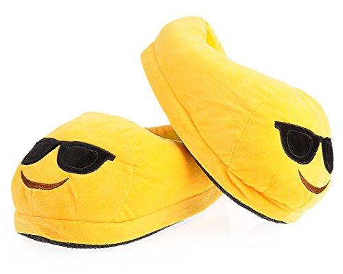 Carino Caldo Emoj Inverno Scarpe Da Uomo / Donna Pantofole Morbido Divertimento Emoticon Pantofola Per Unisex Ragazzi / Ragazze Occhiali Da Sole