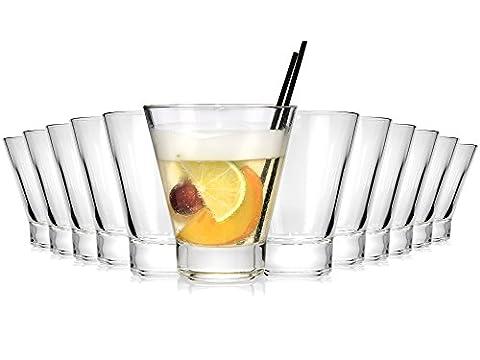 Bluespoon Cocktailgläser Set 12 teilig | Füllmenge ca. 250 ml | Perfekt geeignet als Saftglas, Wasserglas, Cocktailglas oder
