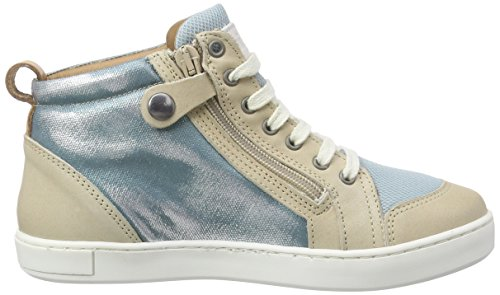 BisgaardShoe with laces - Scarpe da Ginnastica Basse Unisex – Bambini Blu (Blau (09 Glitter-petrol))
