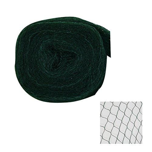 Silagennetz Schutznetz Teichschutznetz Polyethylen grün-schwarz versch. Größen, Maße:8 x 25 m