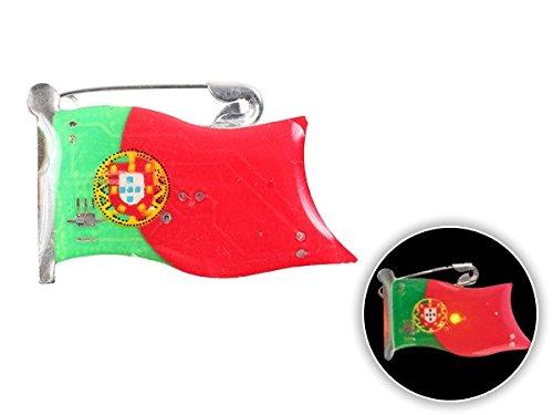 Spilletta LED con luce intermittente bandiera portogallo portugal spilla pin badge calcio europei mondiali tifosi ultra (104) - Personalizzati Pin Badge