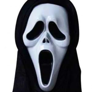 Sunect Supply Chain Masque pour Halloween/déguisement En 1 seule pièce Motif Scream/terreur/protestation