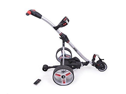 Elektro Golf Trolley PGE 2.0 Funkfernbedienung, 400W , Akku 33Ah, Farbe silber