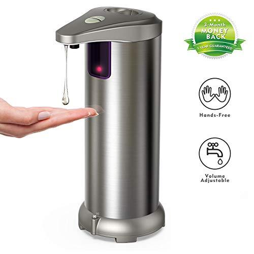 Hanamichi Dispensador automático de jabón con Acero Inoxidable, Sensor de Movimiento por...