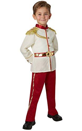 Rubie's Märchenprinz-Jungen-Kostüm, offizielles Disney-Produkt, Größe - Prince Charming Kostüm Junge