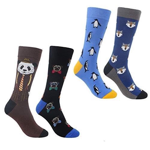 ECOMBOS Herren Socken Bunt - Baumwolle Socken Herren, Gemusterte Socken Muster Lustige Socken, Modische Socken Mehrfarbig Klassisch Baumwolle 38-45 (Cartoon)