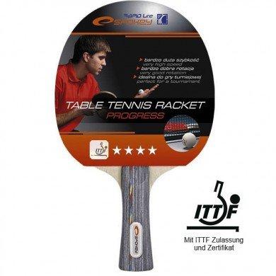 Spokey Profi Tischtennisschläger 4 Sterne**** PROGRESS-FL mit ITTF Zulassung Wettkampftischtennisschläger (Tennisschläger Für Standard Griff)