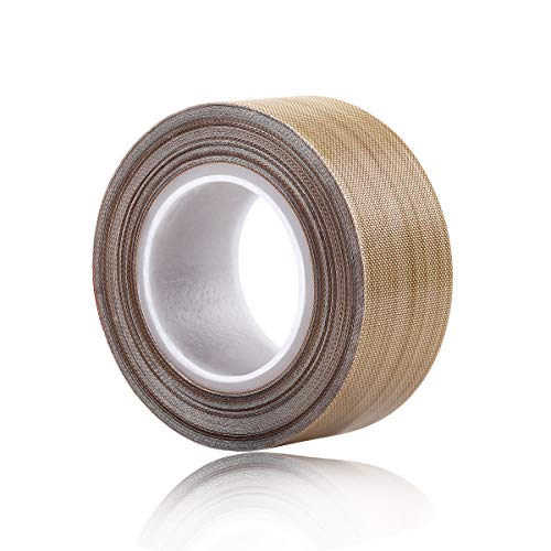 100% Quality Assurance; PTFE Coated Fiberglass Teflon Tape,high Temperature Tape;Drying Conveyor Belt; Welding Sealing Tape; -196℃ - +300℃ (25mm x 12yards x 0.18mm, Brown 1) Food Equipment Manufacturers