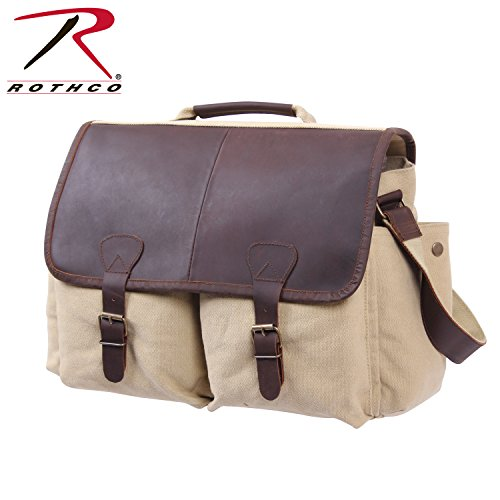 Rothco-Borsa a tracolla Vintage con custodia in pelle