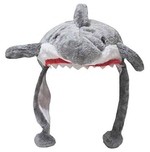 n-Kostüm Tiere Hut Unisex-Kleidung Freie Größe Einheitsgröße grau Shark ()