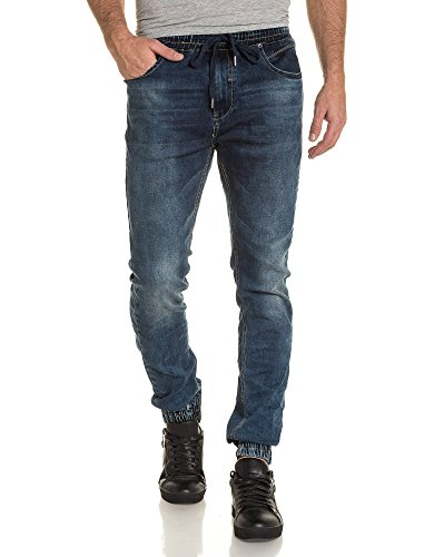 BLZ jeans - Jogger pant homme bleu délavé Bleu