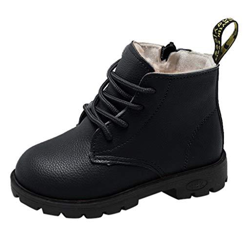 Unisex Winterschuhe Heligen Baby Kinder warme Jungen Mädchen Solide Lace Up PU Sneaker Stiefel Schnee Baby Casual britischen Stil Schuhe