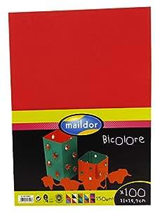Maildor CLAIREFONTAINE Paquet 100F Cartoline bicolore 21x29,7cm sous/film assortis
