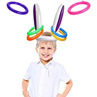 VEYLIN Easter Party Game Inflatable Hoopla Bunny Ears Ring Toss Fun Games for Kids Families Gifts