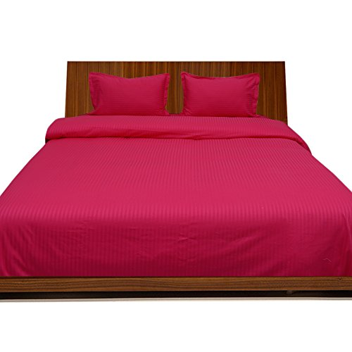 400-tc-georgeous-4-bettdecke-set-spannbettlaken-streifen-pocket-grosse-711-cm-baumwolle-hot-pink-str