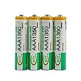 JICHUI 4pcs bty 1.2V AAA 3A 1350mAh Capacidad de sustitución de Ni-MH Recargables para Juguetes RC...