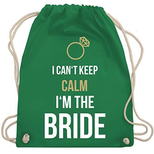 JGA Junggesellinnenabschied - I can't keep calm I'm the bride - Unisize - Grün - WM110 - Turnbeutel & Gym Bag (Grün M&m Kostüm Damen)