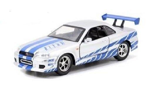 new-132-w-b-fast-furious-7-silver-brians-nissan-skyline-gt-r-r34-diecast-model-car-by-jada-toys-by-j