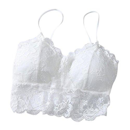 Ropa Interior Mujer, Xinantime Chaleco de trenzas de mujer sexy Tener una bata de pecho con ropa interior deportiva (Blanco)