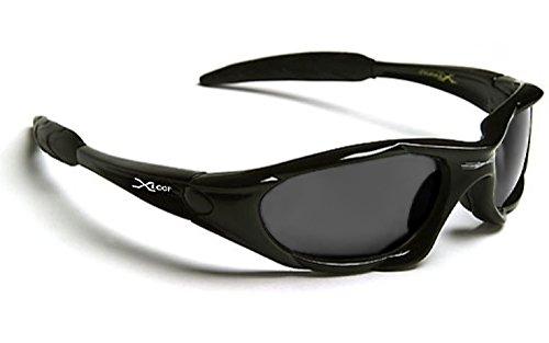 X-Loop Sonnenbrillen - Sport - Mtb - Radfahren - Skifahren - Moto - Running - Tennis / 010P Schwarz