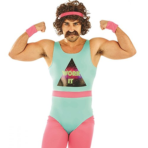 80s Fitness Instructor Outfit for Men